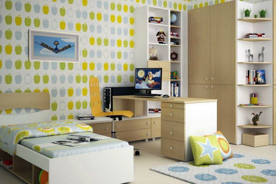 Дизайн маленьких детских комнат на 2 детей 99